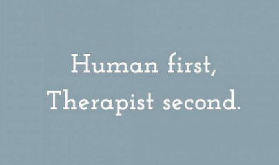 infographic that says, human first, therapist second. Begin online therapy in ohio with melissa russiano who also offers online therapy for therapists in pennsylvania, online therapy for therapists in tennessee, online therapy for therapists in florida, and online therapy for therapists in california to treat therapist burnout